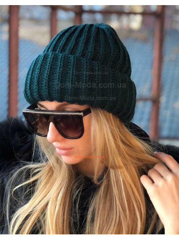 Объемная женская шапка