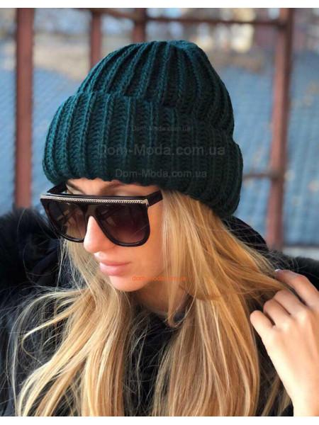 Об'ємна жіноча шапка