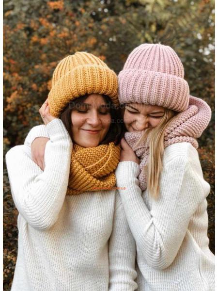 Комплект шапка і хомут жіночий