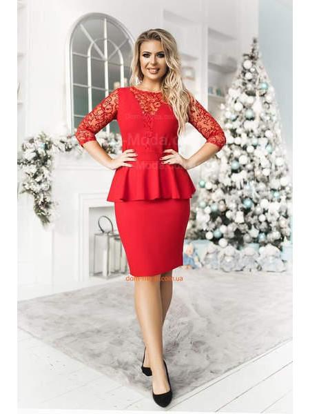 Жіноча вечірня сукню із баскою великого розміру