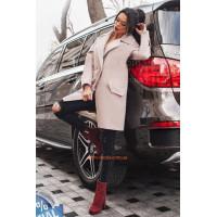 Модное двубортное пальто из кашемира