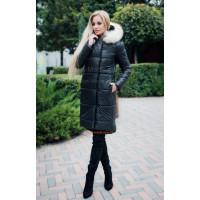 Зимова куртка для жінок з натуральним хутром