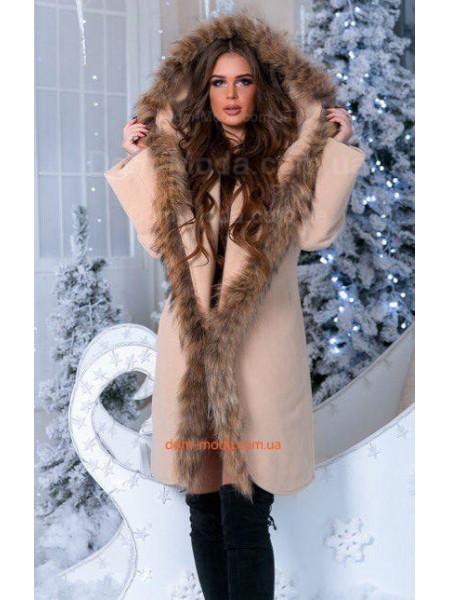 Кашемировое пальто на синтепоне