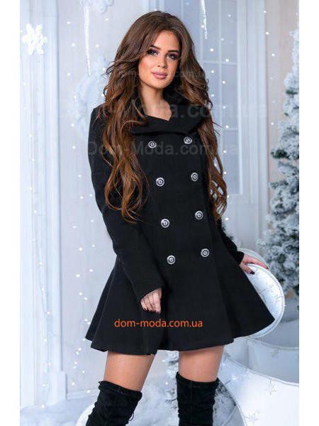 Пальто с пышным низом