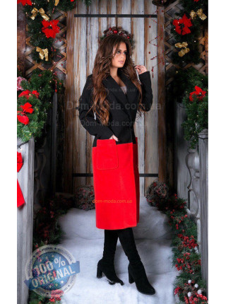 Двухцветное пальто женское