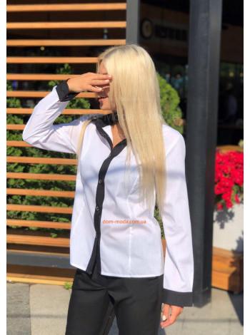 Классическая женская рубашка с длинным рукавом
