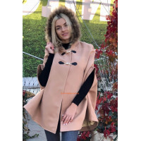 Жіноче кашемірове пончо пальто