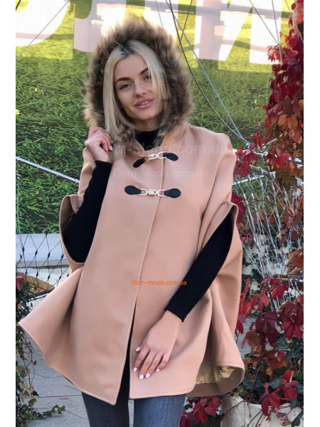 Женское кашемировое пончо пальто