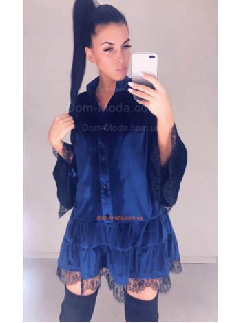 Жіноче бархатне плаття рубашка