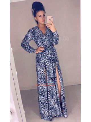 Модное длинное платье с двумя разрезами