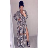 Модне довге плаття з двома розрізами