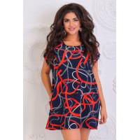 Недорогое летнее короткое платье для полных женщин