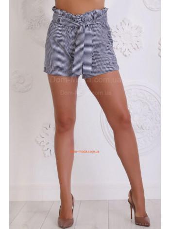 Короткие женские шорты в клетку