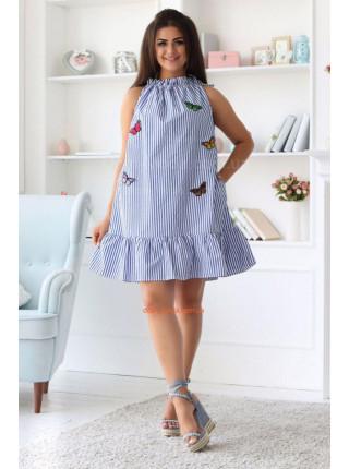 Летнее платье трапеция в полоску