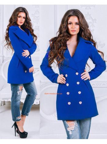 """Модное женское пальто из кашемира """"Гламур"""""""