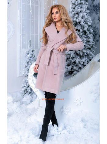"""Женское короткое пальто с поясом """"На запах"""""""