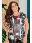 Жіноча літня блузка для повних жінок