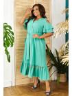 Жіноче літнє плаття з невеликим рукавчиком великого розміру