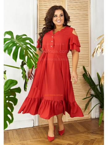 Женское летнее платье с небольшим рукавчиком большого размера