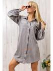 Коротке стильне замшеве плаття сорочка