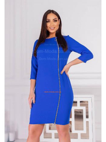 Модное женское платье со змейкой большого размера