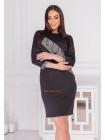 Трикотажна чорна сукня
