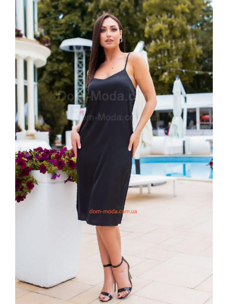 Шовкове плаття на бретельках