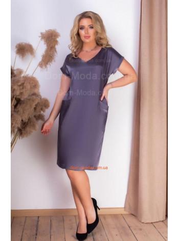 Платье из атласа короткое
