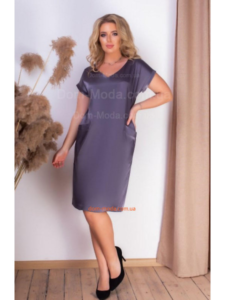 Плаття з атласу коротке
