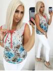 Женская летняя шифоновая блузка большого размера