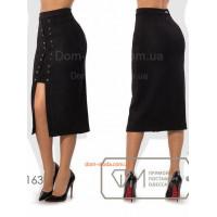 Замшевая юбка со шнуровкой