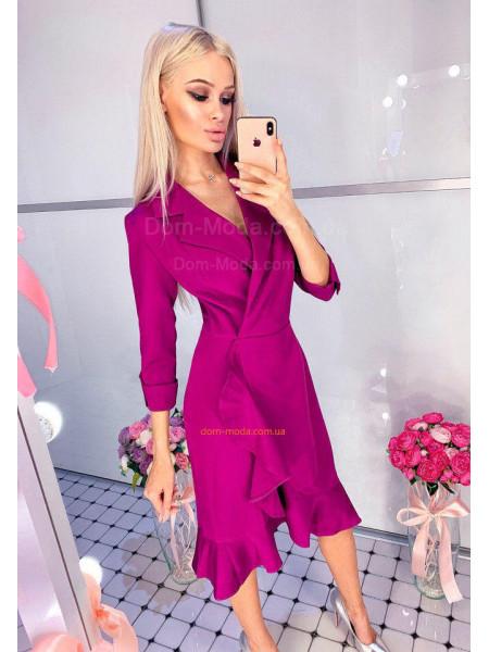 Женское деловое платье с запахом