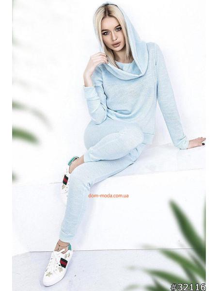 Модный женский спортивный костюм с люрексом