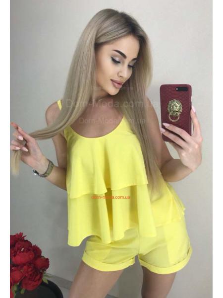 Женский летний костюм шорты и топ