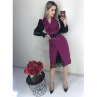 Изысканное женское платье с кружевом