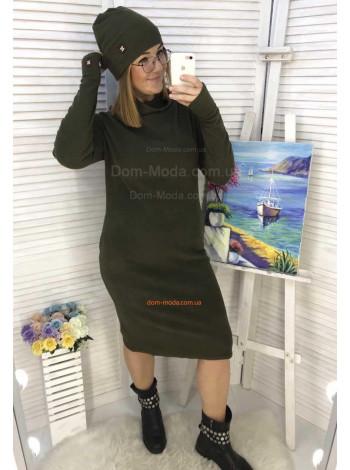Платье с шапкой большого размера
