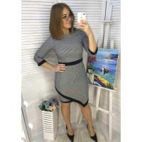 Красивое деловое платье для полных женщин