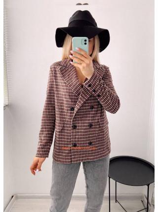 Клетчатый пиджак женский