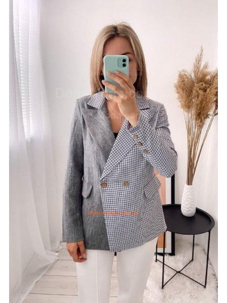Женский пиджак двухцветный