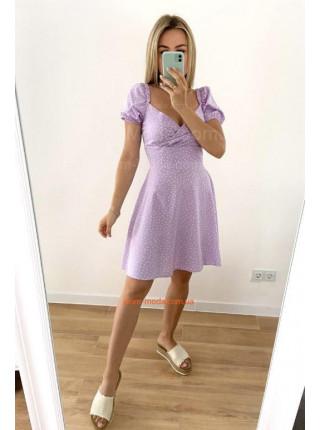 Літня сукня в горошок з тканини софт