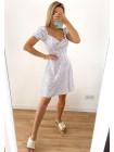 Летнее платье в горошек из ткани софт