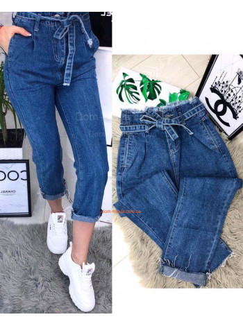 Жіночі стильні укорочені джинси з завищеною посадкою