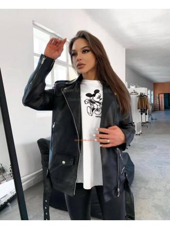 """Женская короткая кожаная куртка """"Косуха"""""""