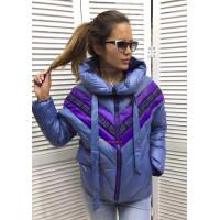 Модная женская куртка с принтом