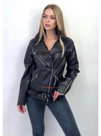 "Женская куртка косуха ""Байкерская"""