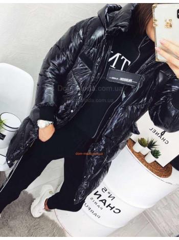 Молодіжна зимова куртка подовженого крою