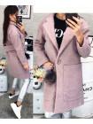 Теплое модное женское пальто из букле