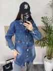 Жіноча модна джинсова подовжена куртка