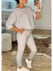 Модний спортивний костюм двійка з паєтками