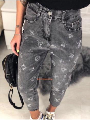 Женские укороченные джинсы с завышенной талией